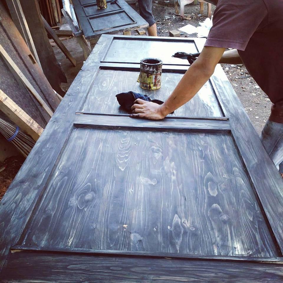 pintu kayu jati belanda