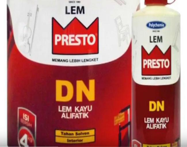 Jual Lem Kayu PRESTO DN Untuk Menyambung Kayu Jati Belanda