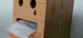 Kotak Tisue - Contoh Kerajinan Tangan Dari Kayu Jati Belanda Bekas Palet